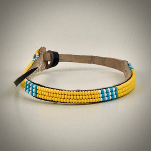 Armband yellow with white/light blue