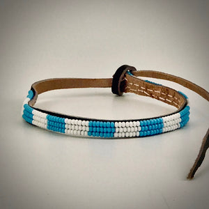 Armband white/light blue