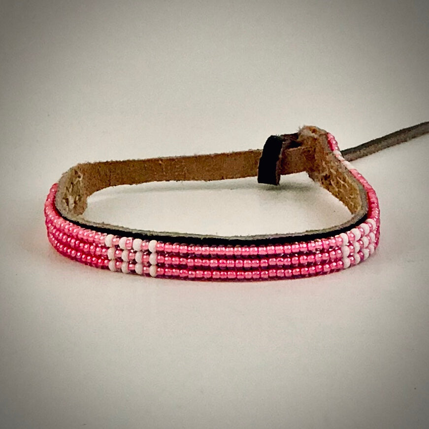 Armband pink with white/pink