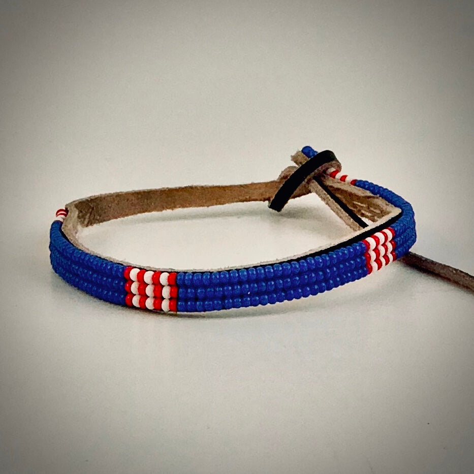 Armband blue with white/red