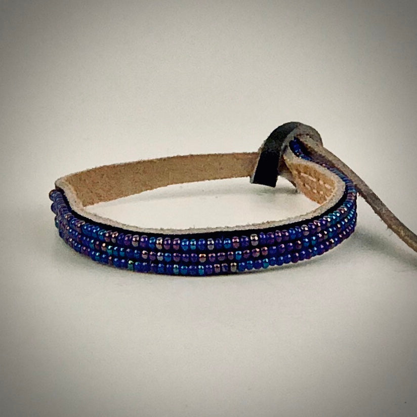Armband one color fancy dark blue