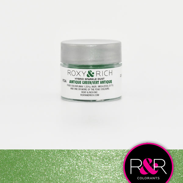 antique green sparkle dust roxy rich