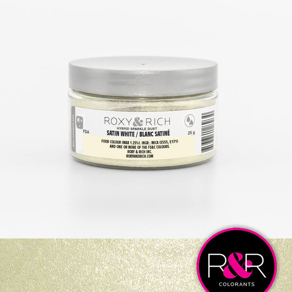 Satin White Hybrid Sparkle Dust by Roxy & Rich