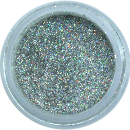hologram silver galaxy dust