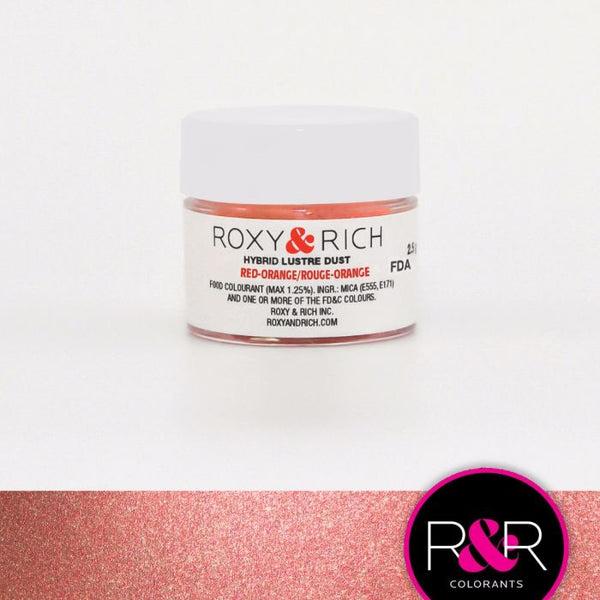 Red-Orange Hybrid Luster Dust by Roxy & Rich