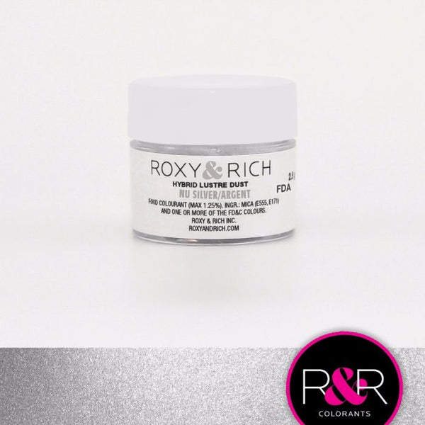 Nu Silver Hybrid Luster Dust by Roxy & Rich