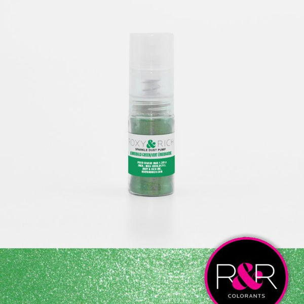 Emerald Green Sparkle Dust Pump by Roxy & Rich