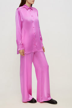 Women Silk Pajama Fluid Set