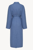 Basic line robe in blue