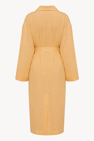 Basic line robe in ochre