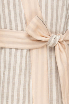 Pacific Robe in Dusted Lines on Peach