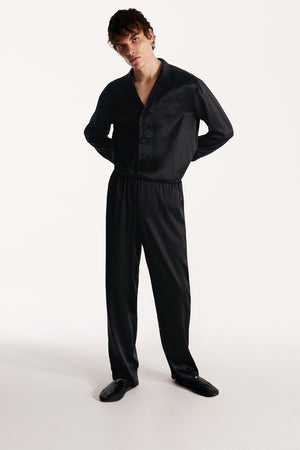 Men pajama set in black