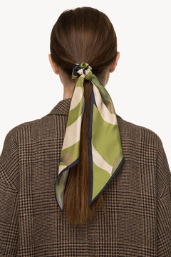 Silk hair tie with ribbon