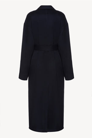 Wrap men coat in navy