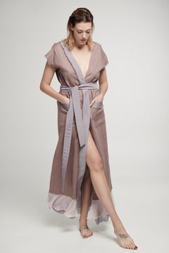 Aurora robe in Rose Taupe