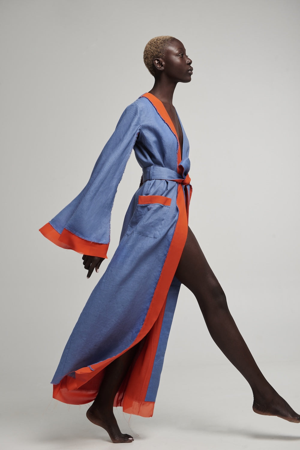 Desert Robe in Blue & Dark Amber