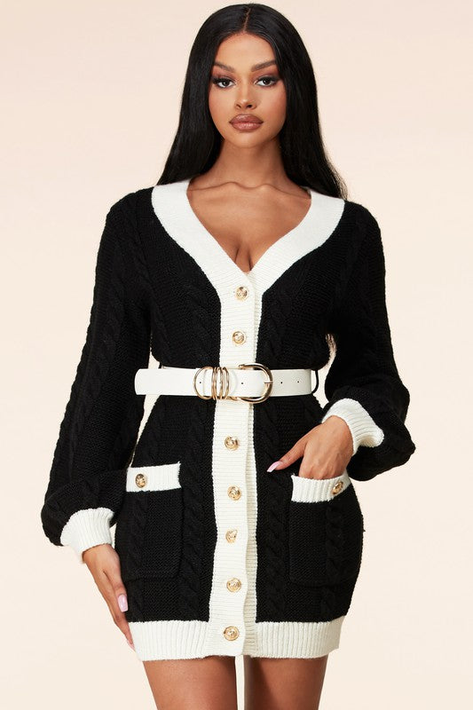 Mia Cardigan Mini Dress