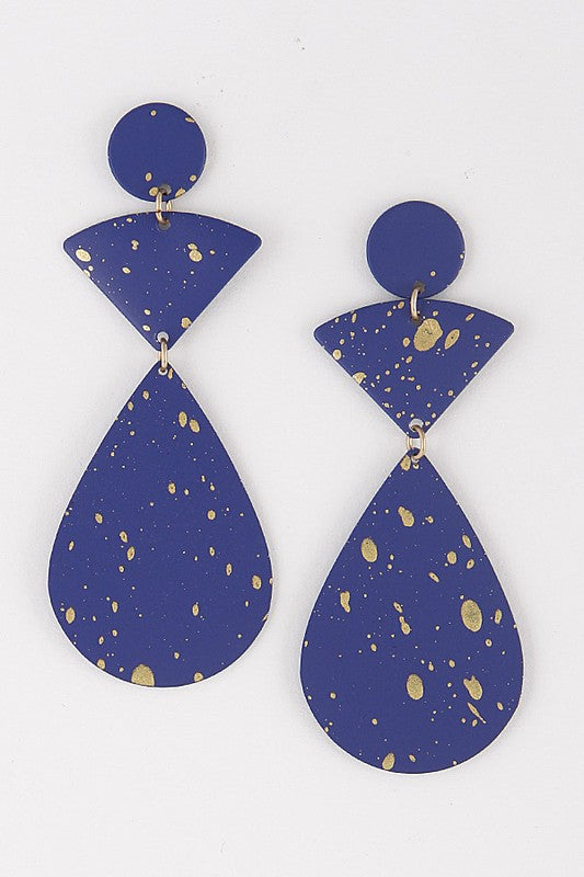 Metal Drop Earrings - FINAL SALE
