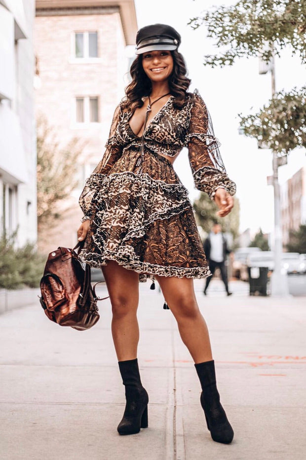 Hot Girl Fall Mini Dress