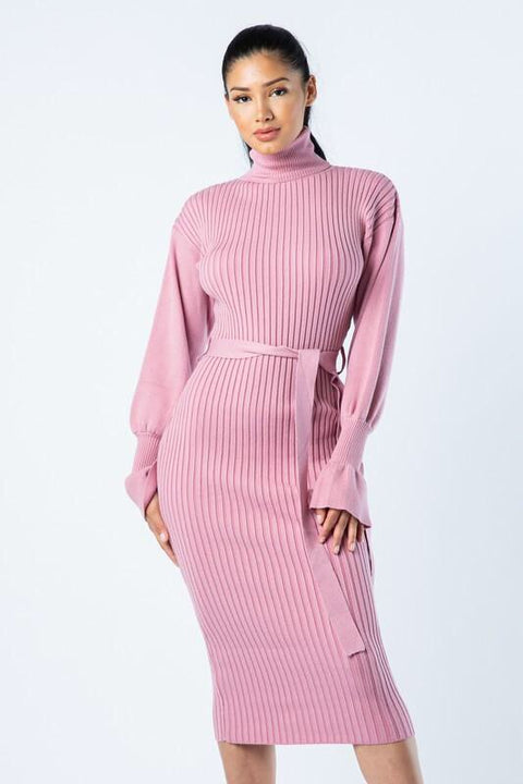 Cozy Feelz Ribbed Dress
