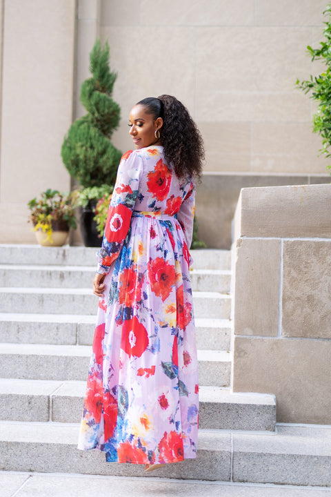 Ruffled Up Floral Maxi Dress - FINAL SALE