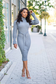Cozy Feelz Ribbed Dress - FINAL SALE