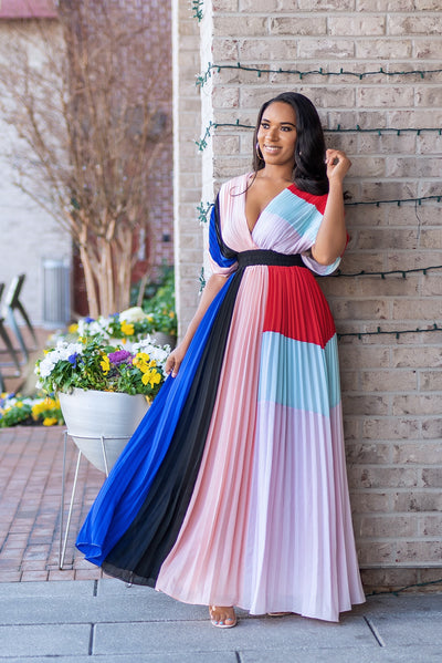 Color Block Maxi Dress - FINAL SALE