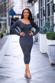 Jasmine Ribbed Midi Dress - FINAL SALE