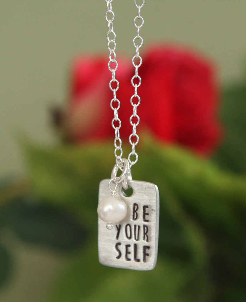 Be Yourself Pearl Pendant Necklace, USA