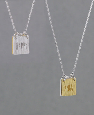 Happy Angry Mood Necklace