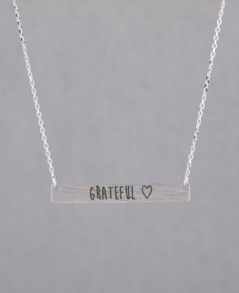 Grateful Bar Necklace
