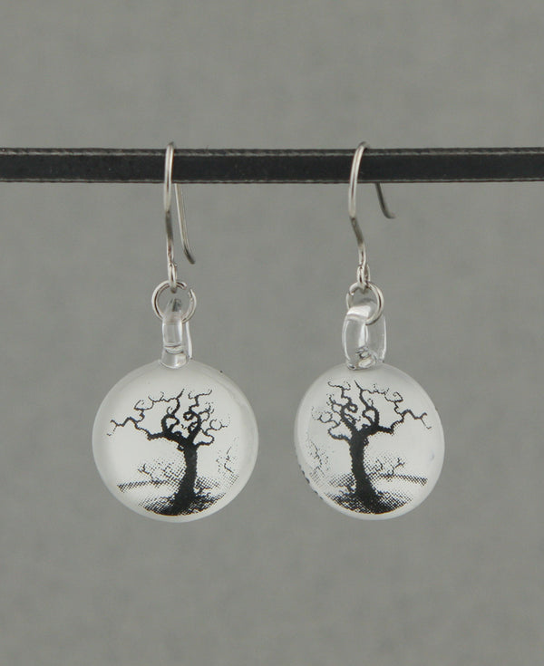 Tree of Life Glass Earrings