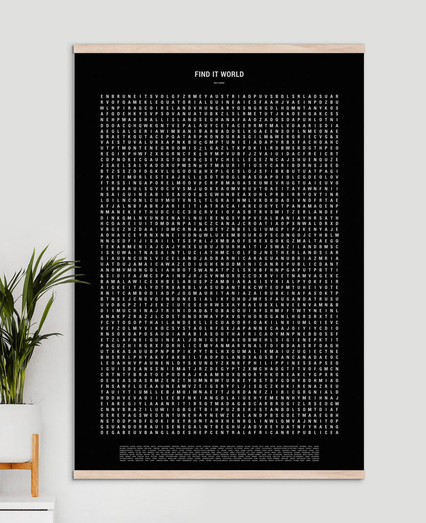 Find It! Word Search World Travel Poster