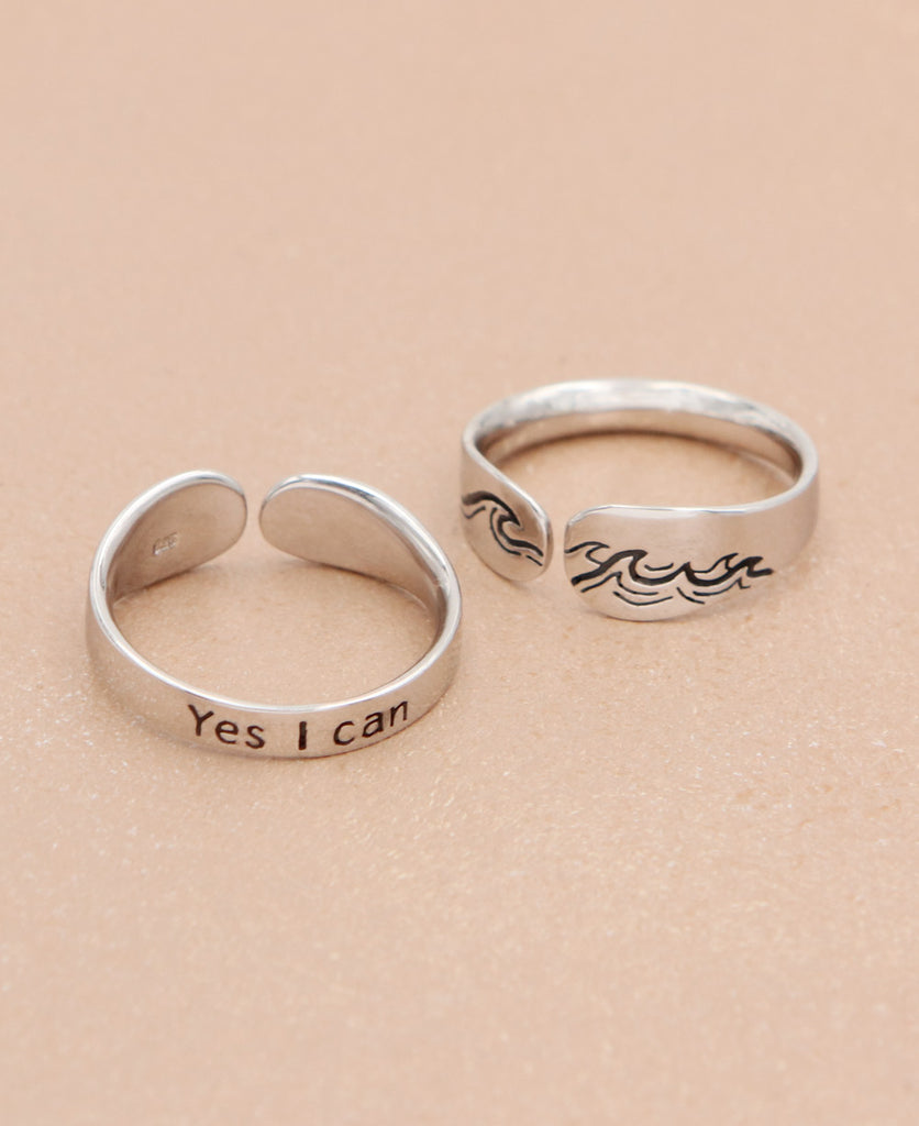 Yes I Can Affirmation Ring