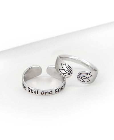 Be Still and Know Ring