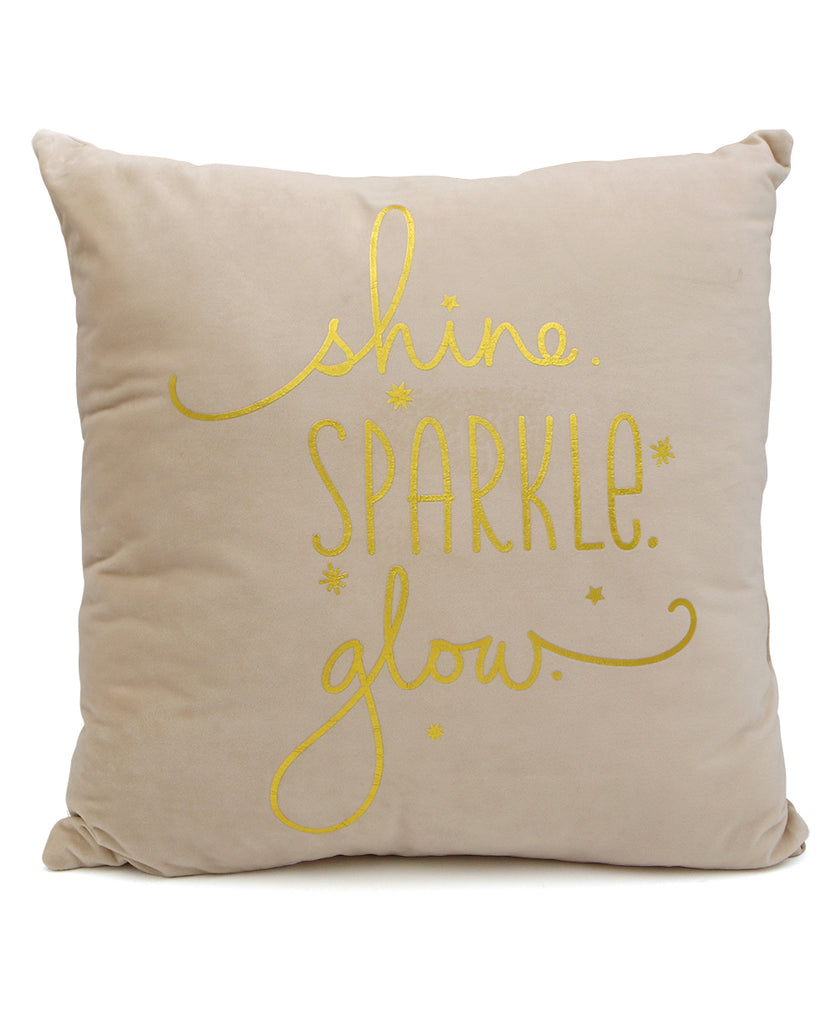 Shine Sparkle Glow Pillow