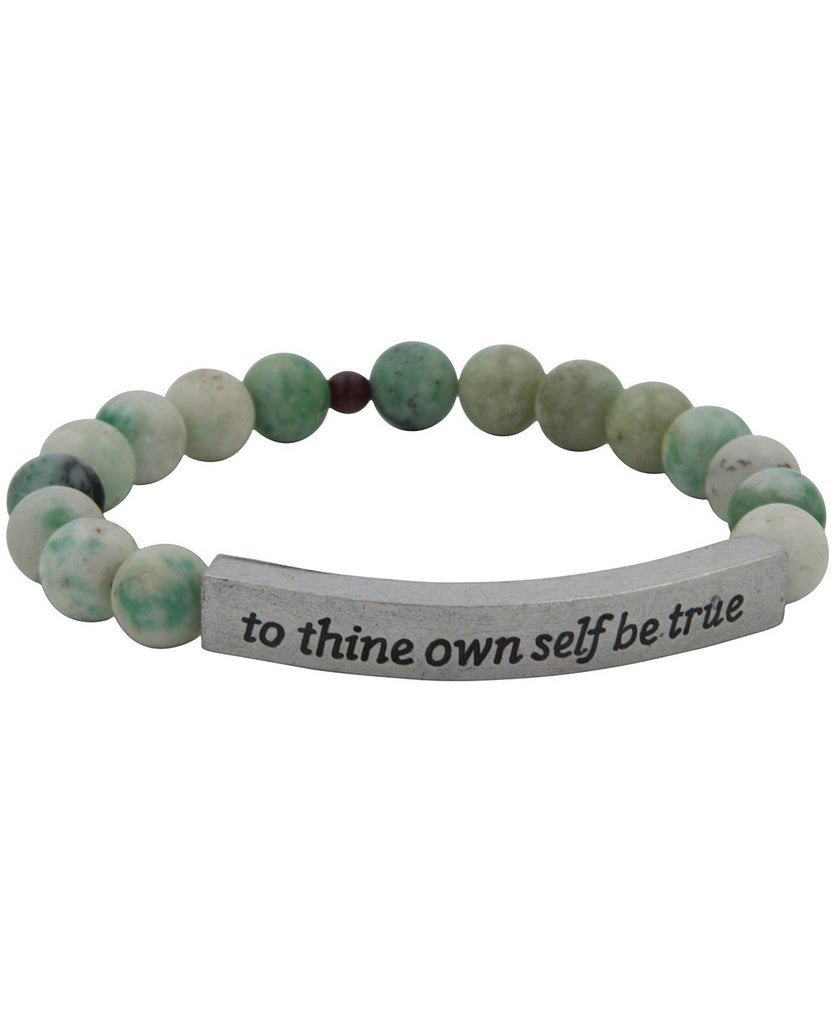 Positive Affirmation Stone Bead Bracelet, USA