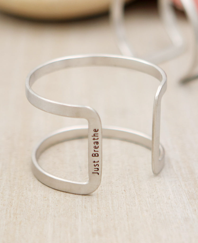 Just breathe inspirational bracelet