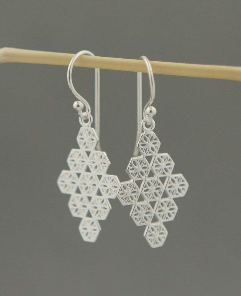 Flower of Life Geometric Earrings