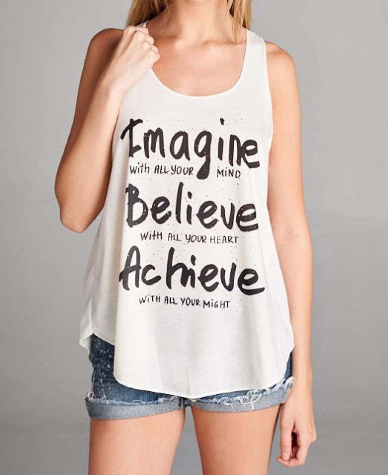 Imagine, Believe, Achieve Women's Tank Top