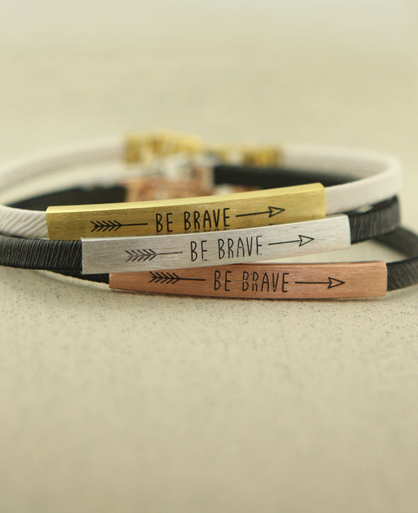 Be Brave Arrow Bracelets