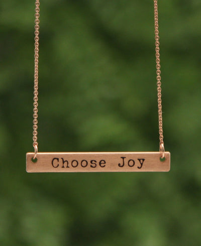 Choose Joy Pendant Necklace