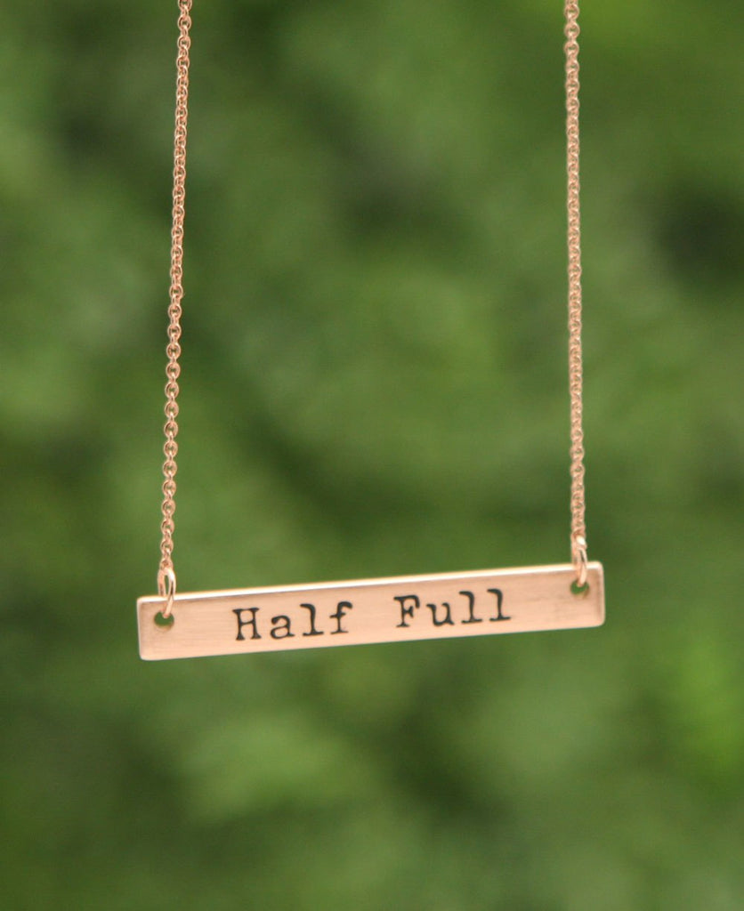 Half Full Necklace
