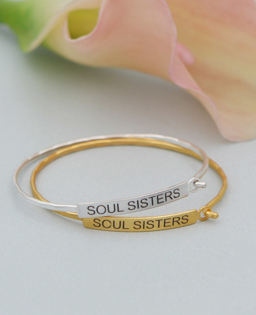 Soul Sisters Bar Bracelet, Silver and Gold