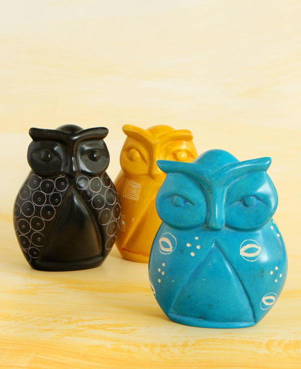 Soapstone Owl Statues
