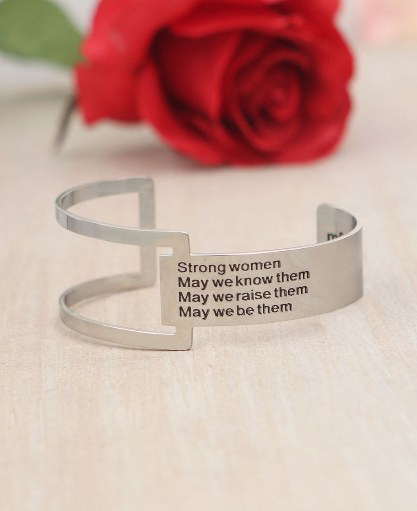 Strong Women Cuff Bracelet Mind Fuel Nest