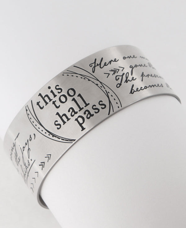 This too shall pass inspirational bracelet