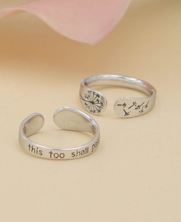 This Too Shall Pass Mantra Inspirational Ring Jewelry Gift