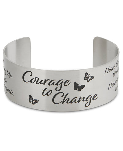 Courage to change inspirational Cuff Bracelet