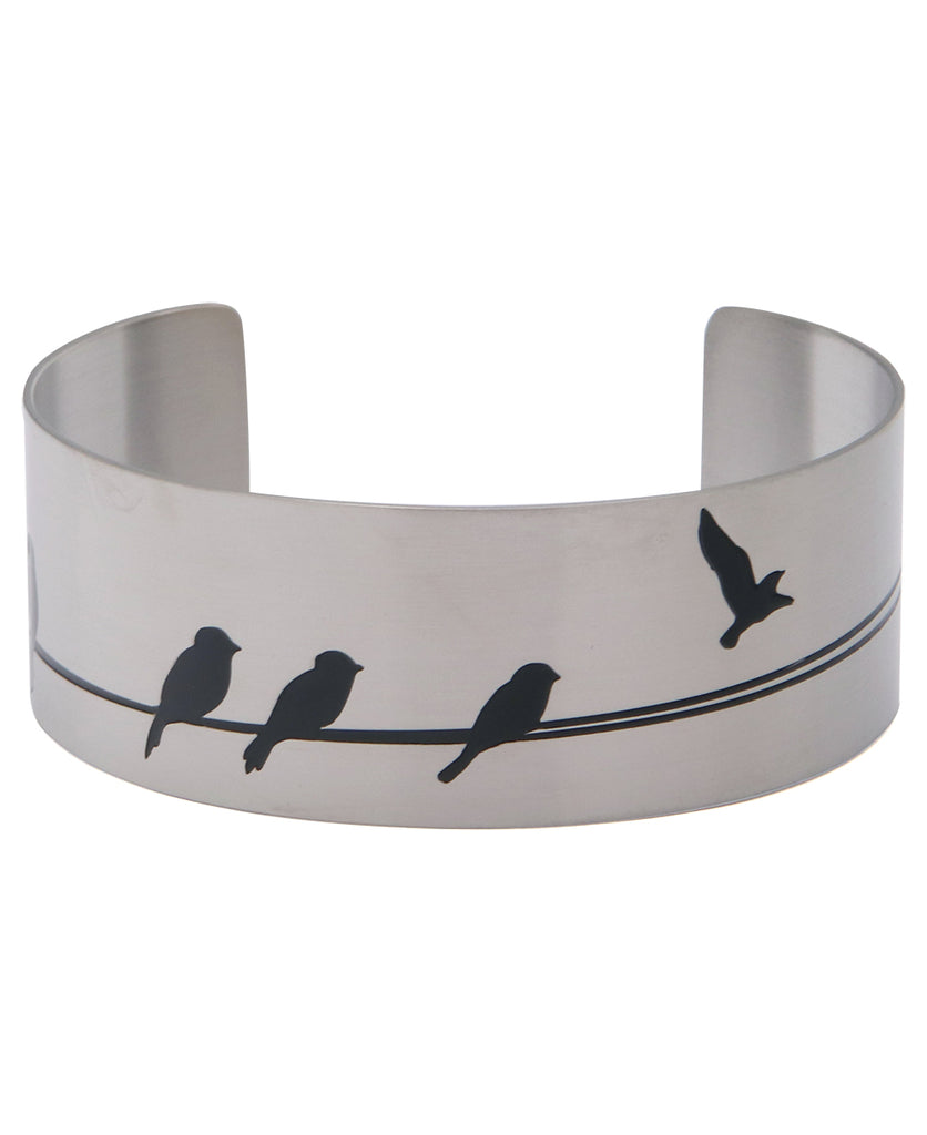 Let It Go Hidden Inspiration Cuff Bracelet, Stainless Steel